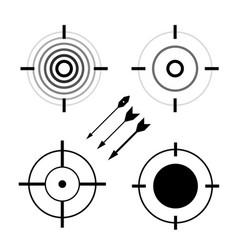 target symbols set bullseye darts icon vector image