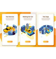 taxi service application concept car ride vector image