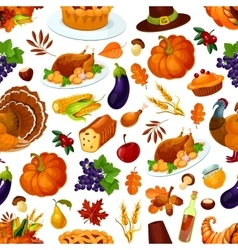 Thanksgiving seamless pattern decoration vector