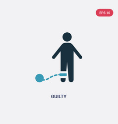 Two color guilty icon from law and justice vector