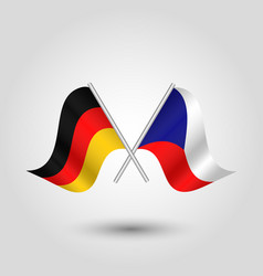 Two crossed german and czech flags vector