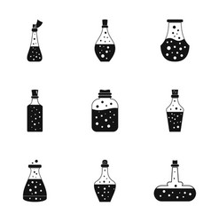 Vacuum flask icons set simple style vector