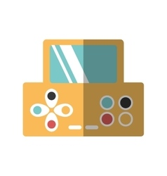 video game console portable vector image