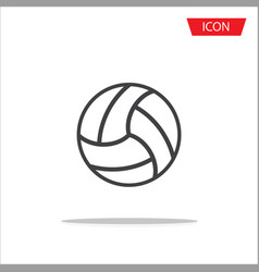 volleyball icon outline volleyball icon vector image vector image