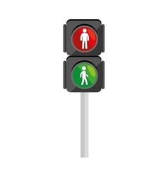 Walk traffic light semaphore icon vector