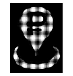 white halftone rouble bank location icon vector image
