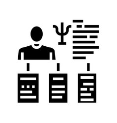 Worker different traits glyph icon vector