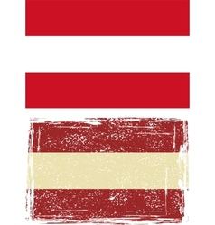 Austrian grunge flag vector image vector image