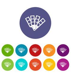 color palette guide set icons vector image