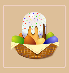 easter cake easter cake christian holiday vector image vector image