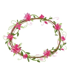 Floral frame for your design vector image