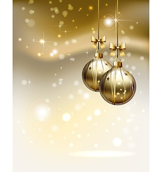 glimmered Christmas background vector image vector image