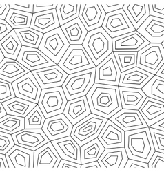 Hexagon geometric seamless pattern vector image vector image
