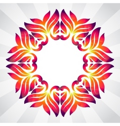 Spring frame of colorful abstract leaves vector image vector image