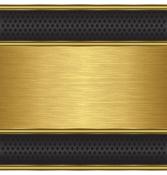 Abstract golden background with metallic grill vector image vector image