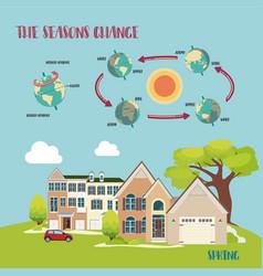 Earth seasons cycle vector