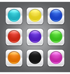 Set of color apps icons vector image vector image