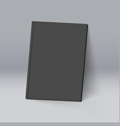 Black book for design mockup template vector