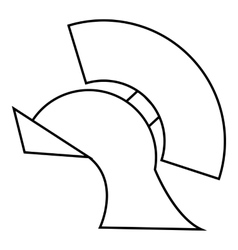 Gladiator helmet icon outline style vector image vector image