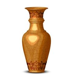 golden ornate vase vector image
