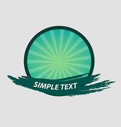 Green Brush Banner Badge and Labels vector image