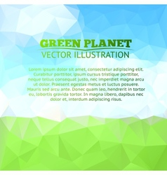 Green field and tree with blue sky vector image