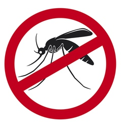 stop mosquito sign vector image vector image