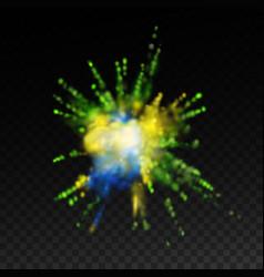 vibrant paint blast vector image vector image