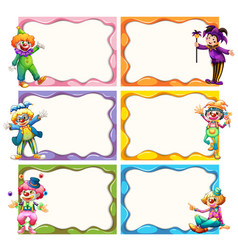 frame template with jesters vector image vector image