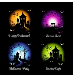 Halloween banners for your design vector image