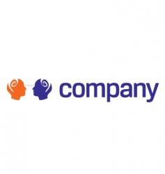 Human head logo for charity vector