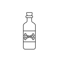 rum icon vector image
