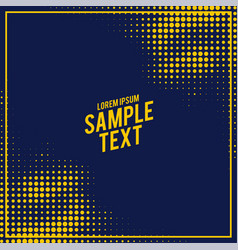 abstract blue and yellow halftone pattern vector image