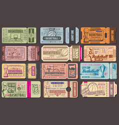 Admission tickets for baseball sport game vector