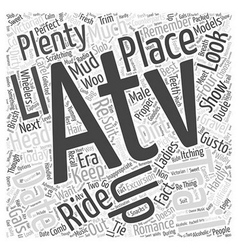 An atv trail date Word Cloud Concept vector