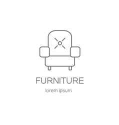 Armchair furniture logotype design templates vector
