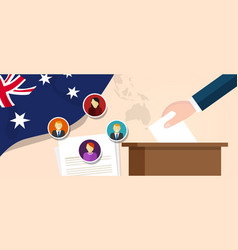 Australia democracy political process selecting vector