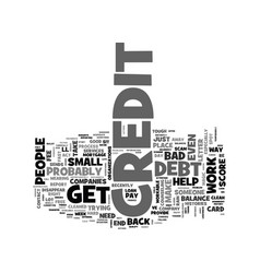 Be wary of phony credit scams text word cloud vector