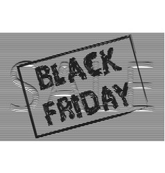 Black fridaythe text is written with a brush sale vector