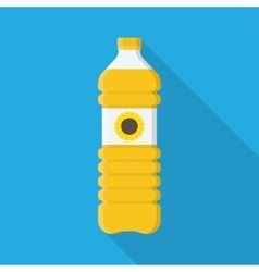 Bottle of vegetable oil vector image