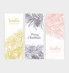 bundle of vertical seasonal banners or backdrops vector image