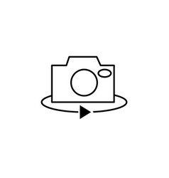 Camera rotate icon vector