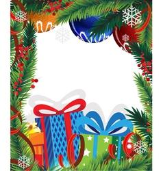 Christmas presents and Christmas tree vector image