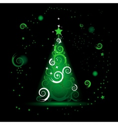 Christmas tree beautiful vector image
