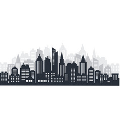 City silhouette land scape city landscape vector