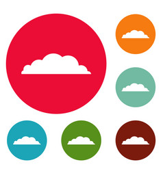 climate icons circle set vector image