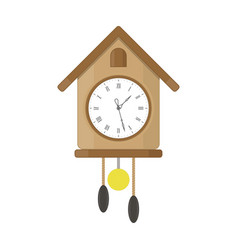 clock with pendulum and cuckoo vector image
