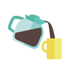 coffee maker with cup vector image