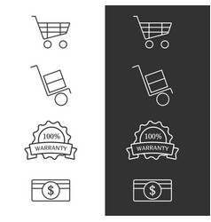 Commertial icon set vector