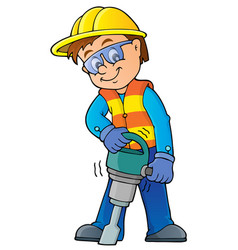 construction worker theme image 7 vector image